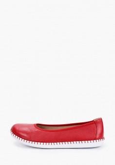 Балетки, Caprice, цвет: красный. Артикул: CA107AWIAEE2. Обувь / Балетки