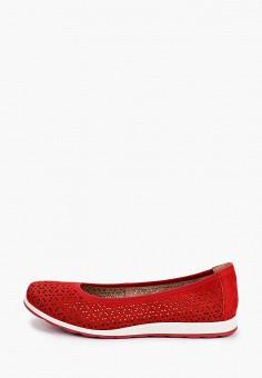 Балетки, Caprice, цвет: красный. Артикул: CA107AWIAEF2. Обувь / Балетки
