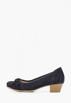 Туфли, Caprice, цвет: серый. Артикул: CA107AWIAEG3. Обувь / Обувь с увеличенной полнотой