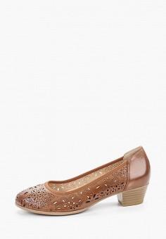 Туфли, Caprice, цвет: коричневый. Артикул: CA107AWIAEL2. Обувь / Обувь с увеличенной полнотой