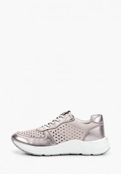 Кроссовки, Caprice, цвет: розовый. Артикул: CA107AWIAEM1. Обувь / Обувь с увеличенной полнотой