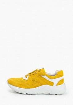Кроссовки, Caprice, цвет: желтый. Артикул: CA107AWIAEM4. Обувь / Обувь с увеличенной полнотой