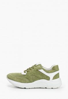 Кроссовки, Caprice, цвет: зеленый. Артикул: CA107AWIAEM5. Обувь / Обувь с увеличенной полнотой