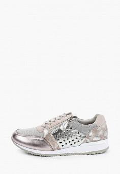 Кроссовки, Caprice, цвет: серебряный. Артикул: CA107AWIAEM7. Обувь / Обувь с увеличенной полнотой