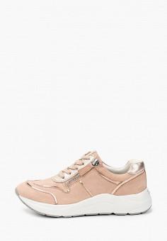 Кроссовки, Caprice, цвет: розовый. Артикул: CA107AWIAEO7. Обувь / Обувь с увеличенной полнотой