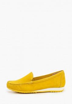 Мокасины, Caprice, цвет: желтый. Артикул: CA107AWIAEP9. Обувь / Мокасины и топсайдеры