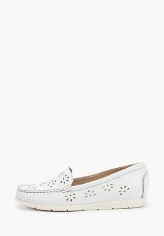 Мокасины, Caprice, цвет: белый. Артикул: CA107AWIAEQ6. Обувь / Мокасины и топсайдеры