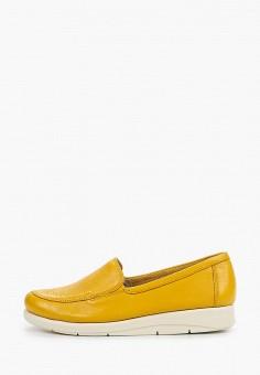 Лоферы, Caprice, цвет: желтый. Артикул: CA107AWIAER5. Обувь / Туфли