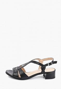 Босоножки, Caprice, цвет: черный. Артикул: CA107AWIAES6. Обувь / Обувь с увеличенной полнотой