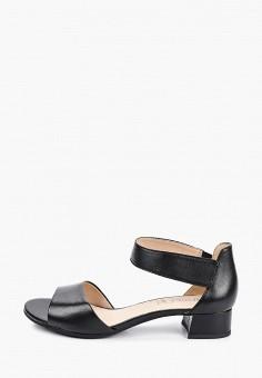 Босоножки, Caprice, цвет: черный. Артикул: CA107AWIAES9. Обувь / Обувь с увеличенной полнотой