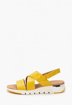 Сандалии, Caprice, цвет: желтый. Артикул: CA107AWIAEU2. Обувь / Обувь с увеличенной полнотой