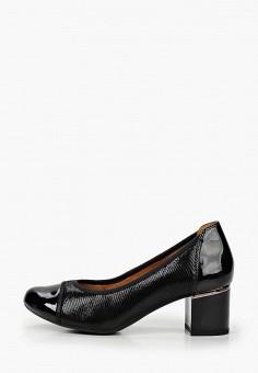 Туфли, Caprice, цвет: черный. Артикул: CA107AWJXUK7. Обувь / Обувь с увеличенной полнотой