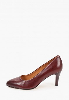 Туфли, Caprice, цвет: бордовый. Артикул: CA107AWJXUL0. Обувь / Туфли / Лодочки
