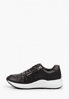 Кроссовки, Caprice, цвет: черный. Артикул: CA107AWJXUM3. Обувь / Обувь с увеличенной полнотой