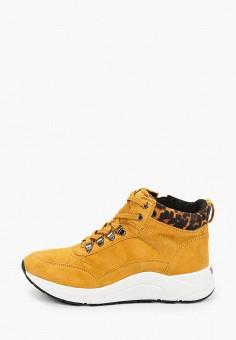 Ботинки, Caprice, цвет: желтый. Артикул: CA107AWJXUP6. Обувь / Обувь с увеличенной полнотой