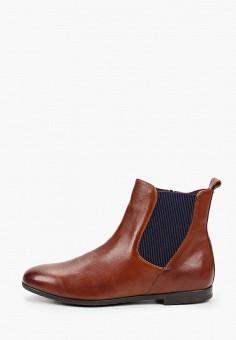 Ботинки, Caprice, цвет: коричневый. Артикул: CA107AWJXUR9. Обувь / Ботинки / Челси