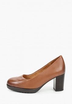 Туфли, Caprice, цвет: коричневый. Артикул: CA107AWJXUW3. Обувь / Обувь с увеличенной полнотой