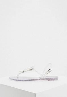 Сандалии, Casadei, цвет: серебряный. Артикул: CA559AWHQWC4. Обувь / Резиновая обувь