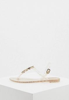 Сандалии, Casadei, цвет: золотой. Артикул: CA559AWHQWC5. Обувь / Резиновая обувь