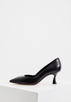 Туфли, Casadei, цвет: черный. Артикул: CA559AWJVLB6. Обувь / Туфли / Лодочки