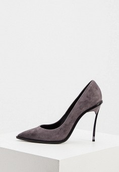Туфли, Casadei, цвет: серый. Артикул: CA559AWJVLB7. Обувь / Туфли / Лодочки