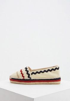 Эспадрильи, Castaner, цвет: бежевый. Артикул: CA991AWHTAY4. Обувь / Эспадрильи
