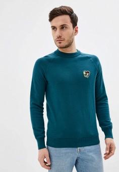 Джемпер, Celio, цвет: зеленый. Артикул: CE007EMFKLY1. Одежда / Джемперы, свитеры и кардиганы / Джемперы и пуловеры