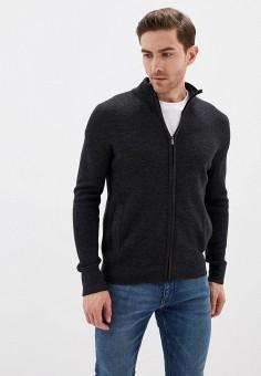 Кардиган, Celio, цвет: серый. Артикул: CE007EMHNPC6. Одежда / Джемперы, свитеры и кардиганы / Кардиганы