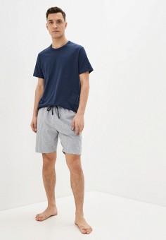 Костюм домашний, Celio, цвет: серый, синий. Артикул: CE007EMHNPG5. Одежда / Домашняя одежда