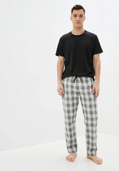 Костюм домашний, Celio, цвет: серый, черный. Артикул: CE007EMHNPG9. Одежда / Домашняя одежда