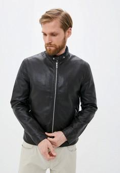 Куртка кожаная, Celio, цвет: черный. Артикул: CE007EMHNPI3. Одежда / Верхняя одежда / Кожаные куртки