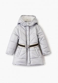 Куртка утепленная, Chicco, цвет: серый. Артикул: CH001EGFSKC9. Девочкам / Одежда / Верхняя одежда / Куртки и пуховики