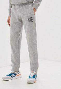 Брюки спортивные, Champion, цвет: серый. Артикул: CH003EMFTGK4. Одежда / Брюки / Спортивные брюки