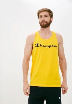 Майка, Champion, цвет: желтый. Артикул: CH003EMKBSJ2. Одежда / Майки