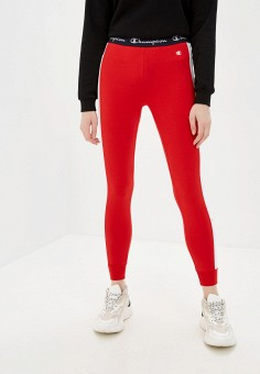 Леггинсы, Champion, цвет: красный. Артикул: CH003EWJILQ8. Одежда / Брюки / Леггинсы