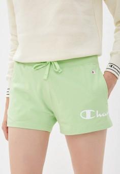 Шорты спортивные, Champion, цвет: зеленый. Артикул: CH003EWKBSO8. Одежда / Шорты