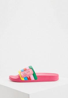 Сабо, Chiara Ferragni Collection, цвет: мультиколор. Артикул: CH057AWHPGG7. Обувь / Резиновая обувь