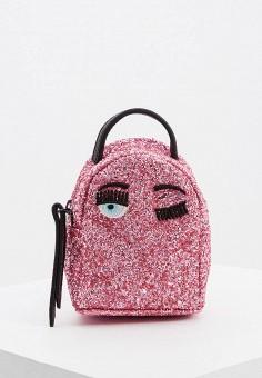 Рюкзак, Chiara Ferragni Collection, цвет: розовый. Артикул: CH057BWGLWG9. Аксессуары / Рюкзаки / Рюкзаки