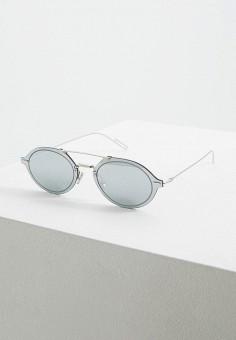 Очки солнцезащитные, Christian Dior, цвет: серебряный. Артикул: CH587DUEYDQ8. Аксессуары