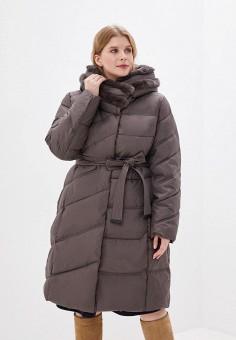 Куртка утепленная, Clasna, цвет: коричневый. Артикул: CL016EWGTBZ2.