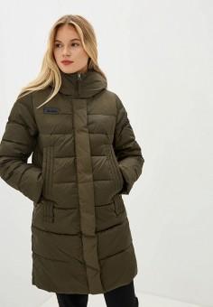 Куртка утепленная, Clasna, цвет: хаки. Артикул: CL016EWGTCF2.