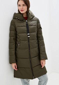 Куртка утепленная, Clasna, цвет: хаки. Артикул: CL016EWGTCH2. Одежда / Верхняя одежда / Демисезонные куртки