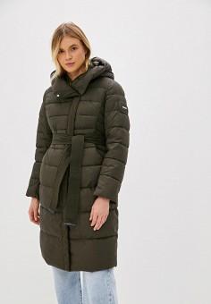 Куртка утепленная, Clasna, цвет: хаки. Артикул: CL016EWGTCH6.