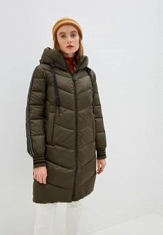 Куртка утепленная, Clasna, цвет: хаки. Артикул: CL016EWGTCI2.