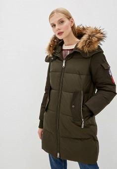 Куртка утепленная, Clasna, цвет: хаки. Артикул: CL016EWGTCI6.