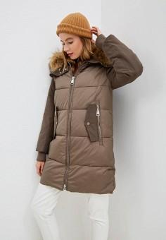 Куртка утепленная, Clasna, цвет: коричневый. Артикул: CL016EWGTCI8.