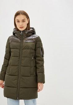 Куртка утепленная, Clasna, цвет: хаки. Артикул: CL016EWGTCJ8.