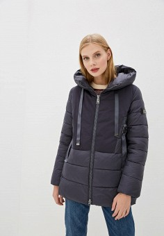 Куртка утепленная, Clasna, цвет: серый. Артикул: CL016EWGTCL0.