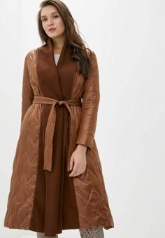 Куртка утепленная, Clasna, цвет: коричневый. Артикул: CL016EWIQOD9.