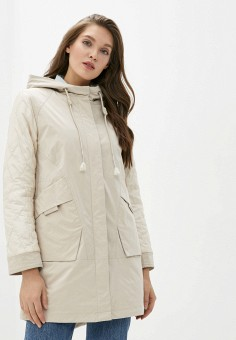 Куртка утепленная, Clasna, цвет: бежевый. Артикул: CL016EWIQOE6.